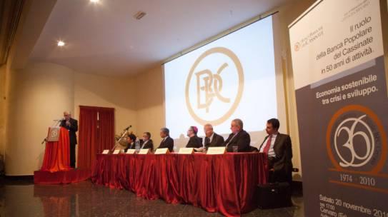 Convegno Il ruolo della Banca Popolare del Cassinate in 50 anni di attività